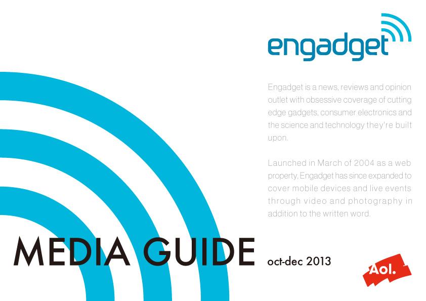Engadget 媒体資料 デザイン