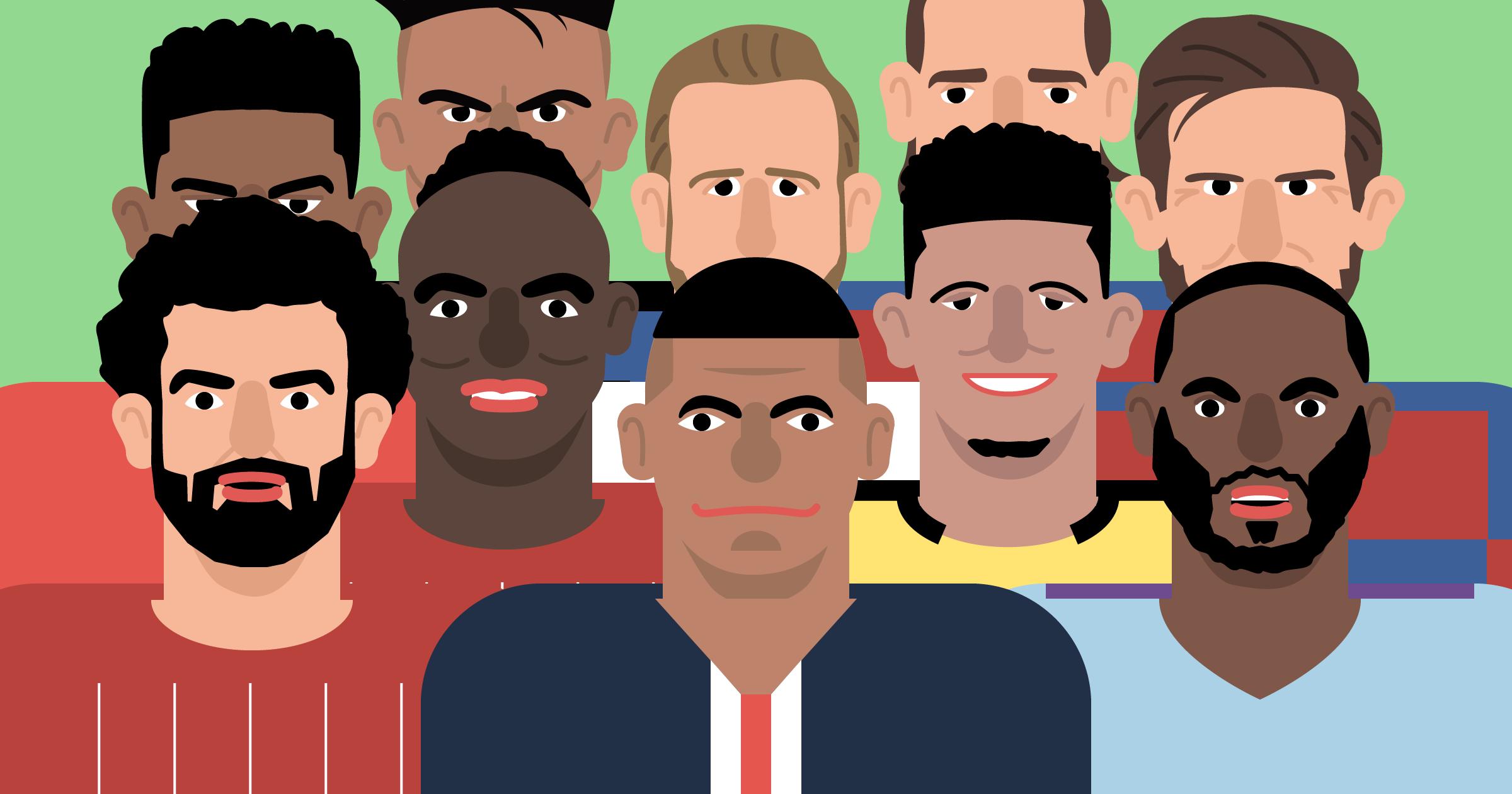 サッカー選手 イラスト