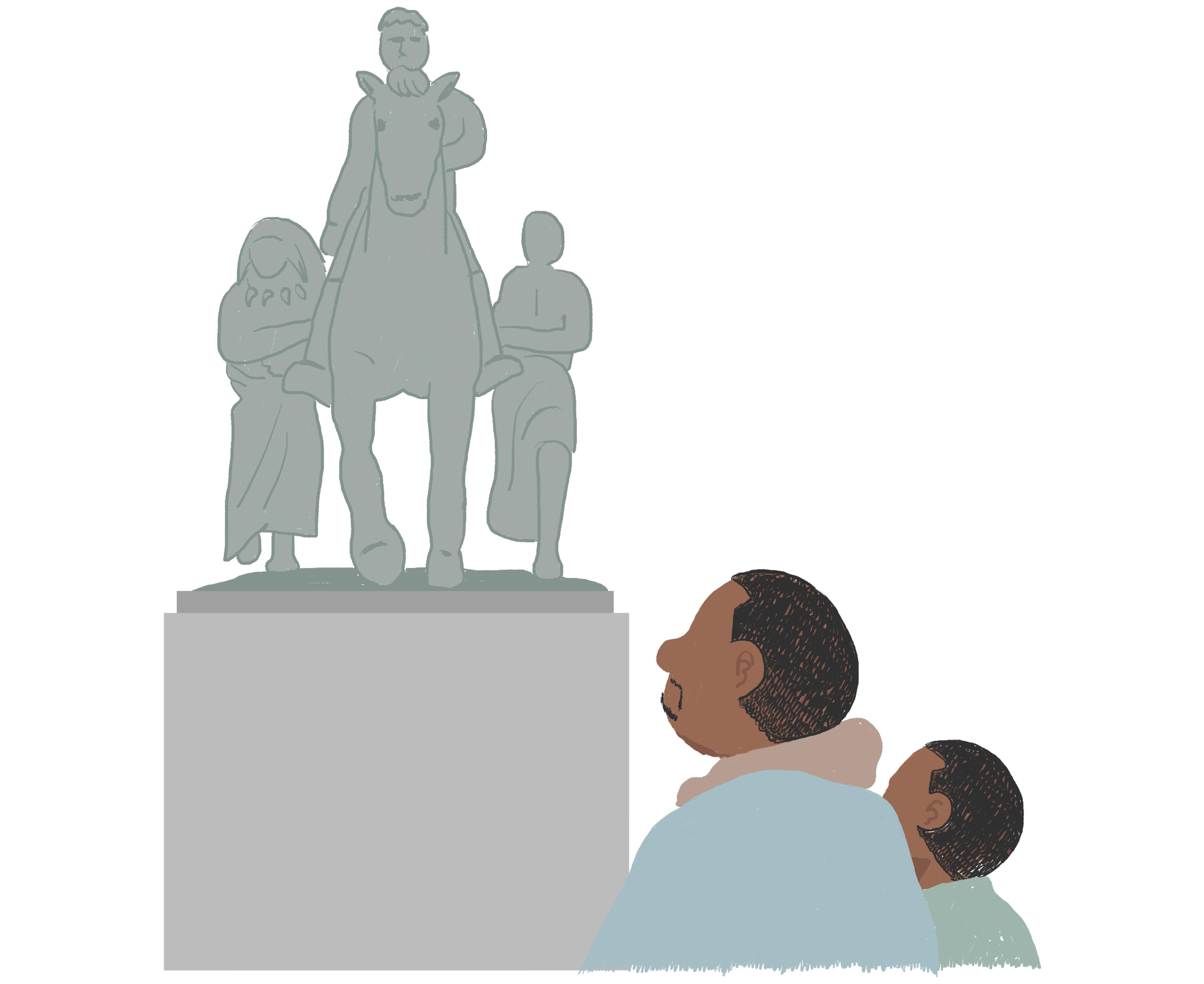 アメリカ自然史博物館 ルーズベルト像 タイタス・カファー TED