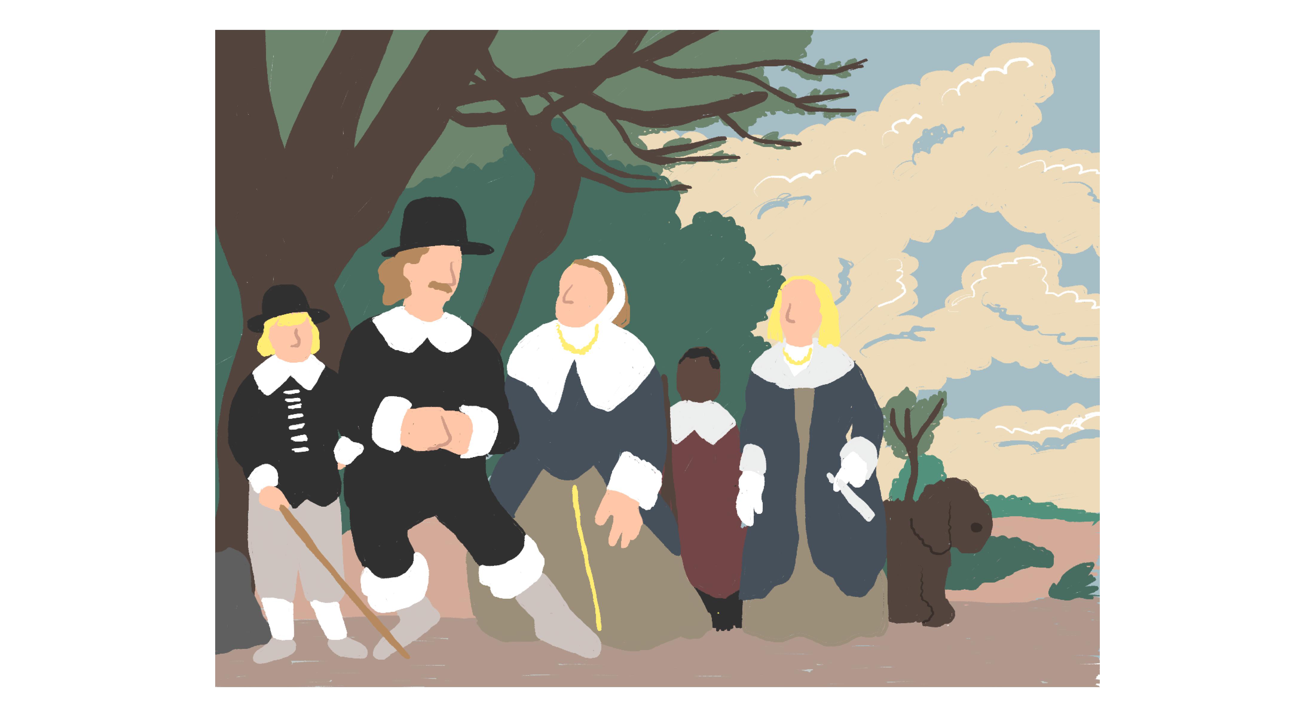 風景の中の家族(Family Group in a Landscape)